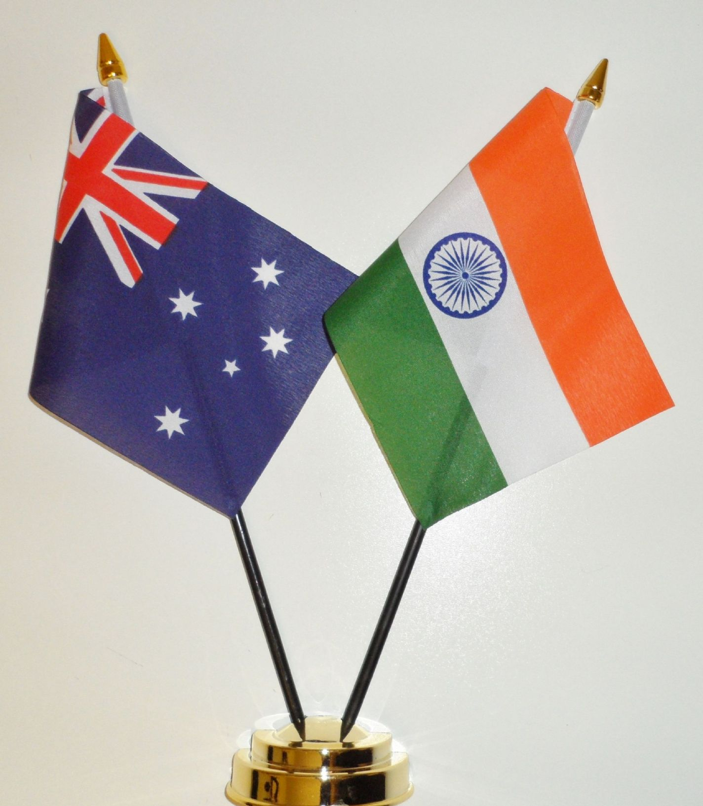 Australia And India Friendship Table Flag
