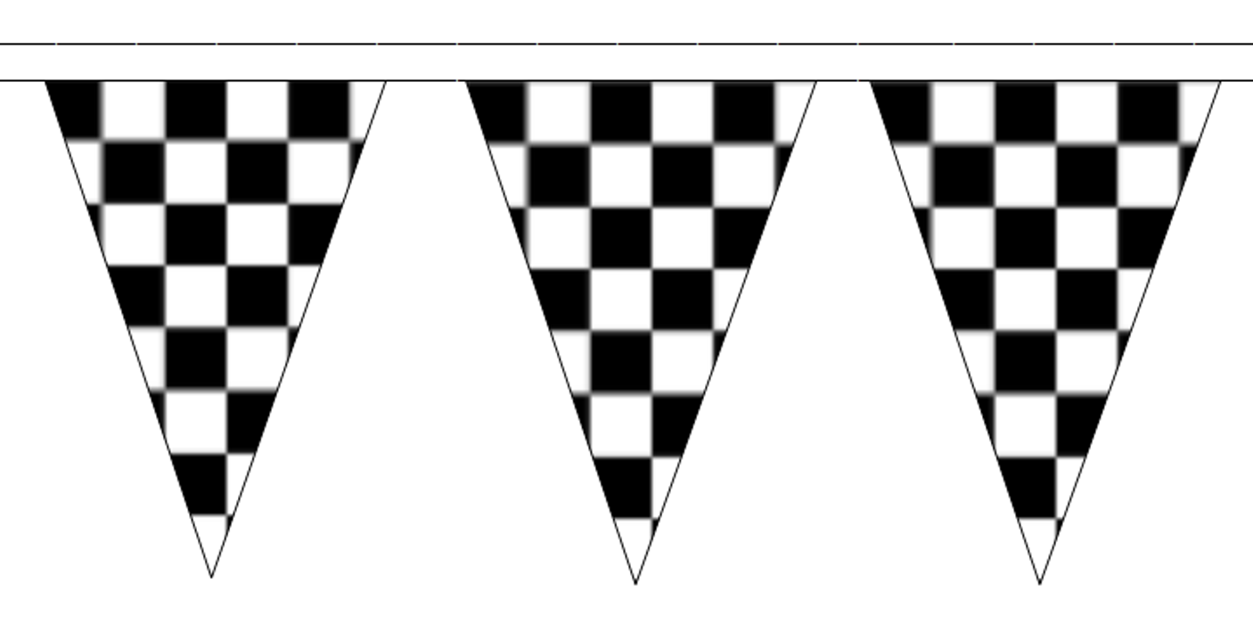 Black and White Check Traditional 20m 50 Flag Polyester ...