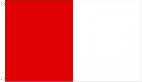 Red and White Half and Half Vertical 3 x2 90cm x 60cm Flag