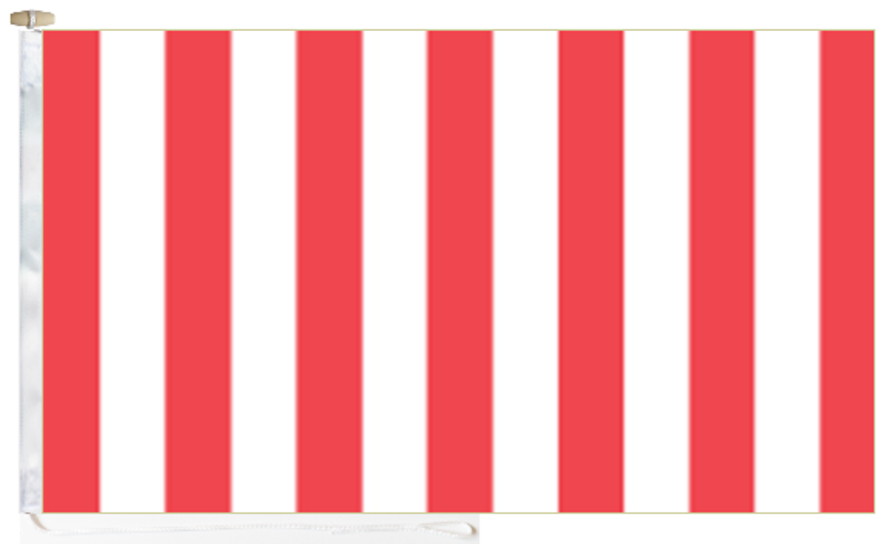 Red & White Vertical Stripes Flag With Rope and Toggle 5 ...