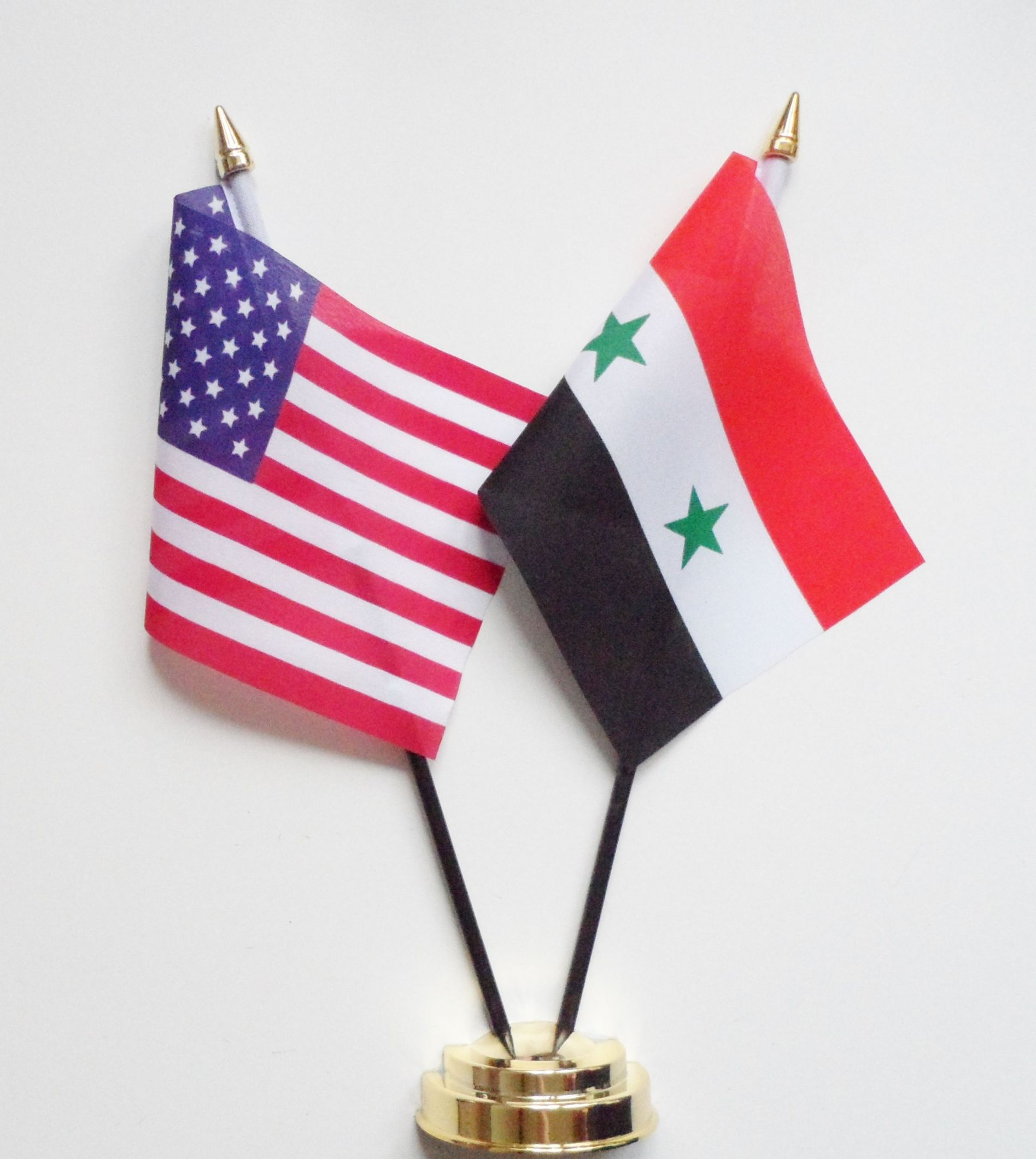 United States Of America Syria Friendship Table Flag - Syria flag