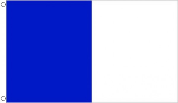 blue and white half and half vertical 3x2 90cm x 60cm flag