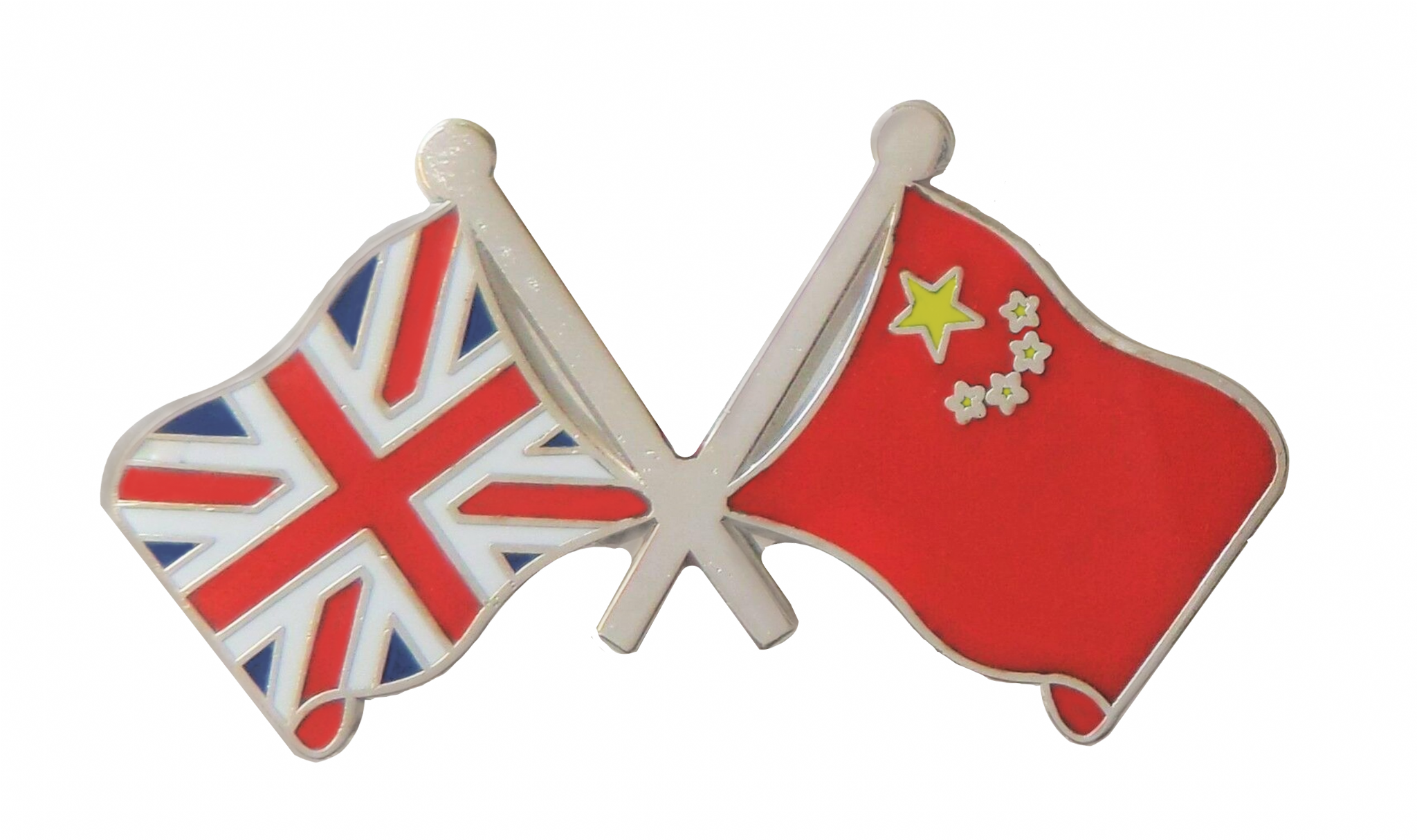 UNION JACK UK /& CHINA FRIENDSHIP FLAG Metal Lapel Pin Badge Butterfly Clasp