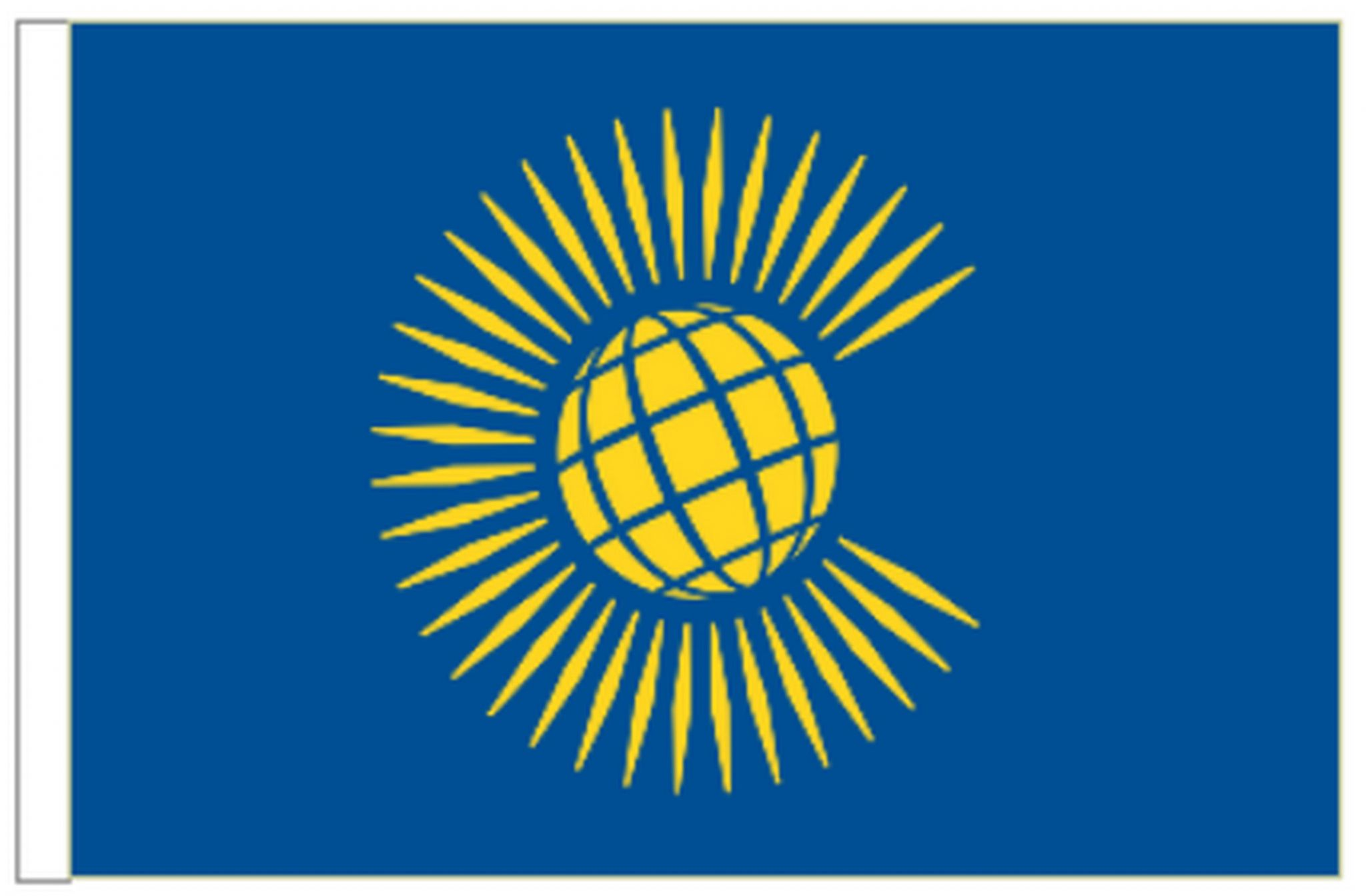 Commonwealth Sleeved Flag suitable for Boats 45cm x 30cm