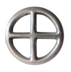 Fire Alchemical Symbol Pewter Pin Badge