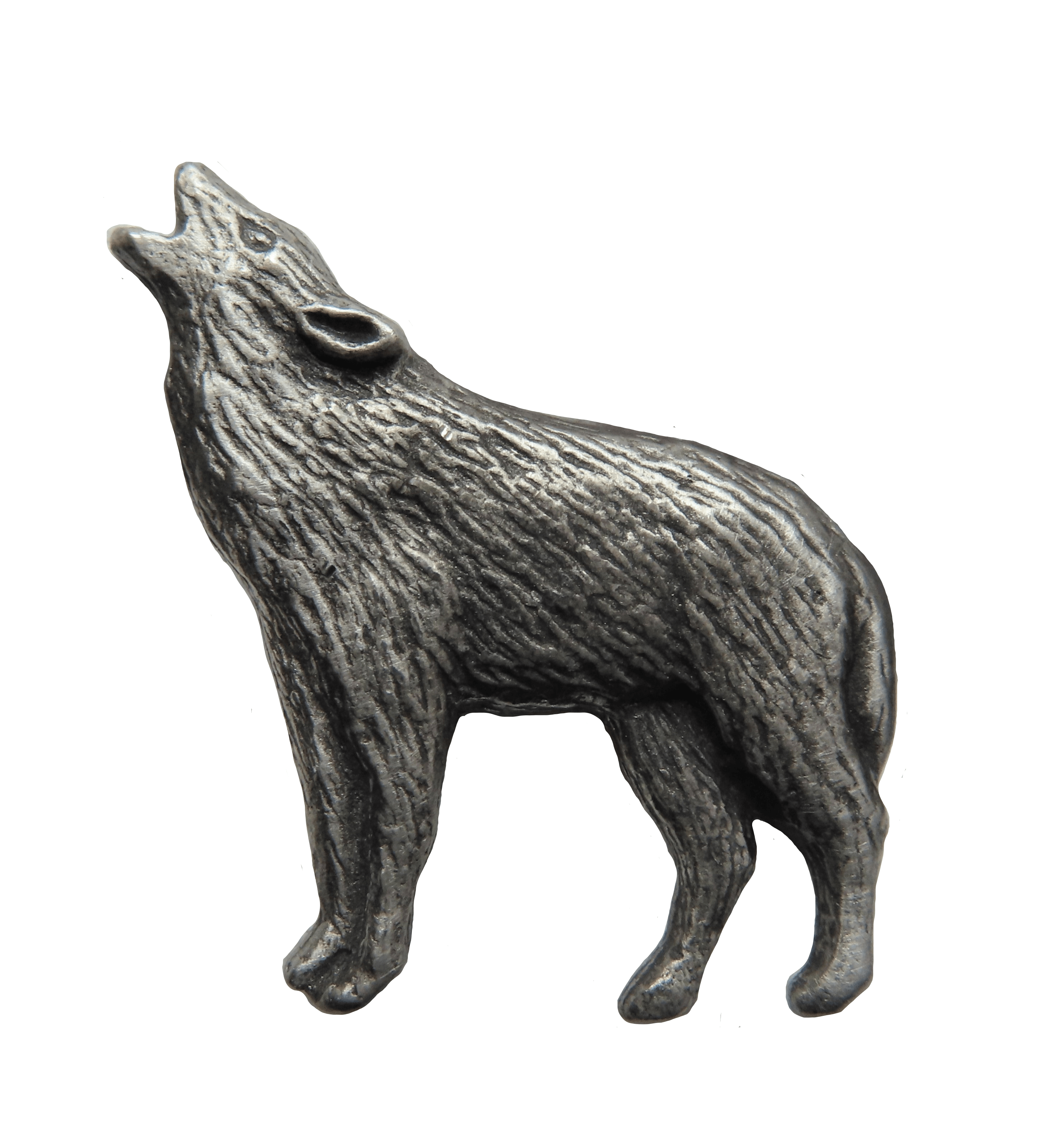 Howling Wolf Brooch Handcrafted From English Pewter BR1311