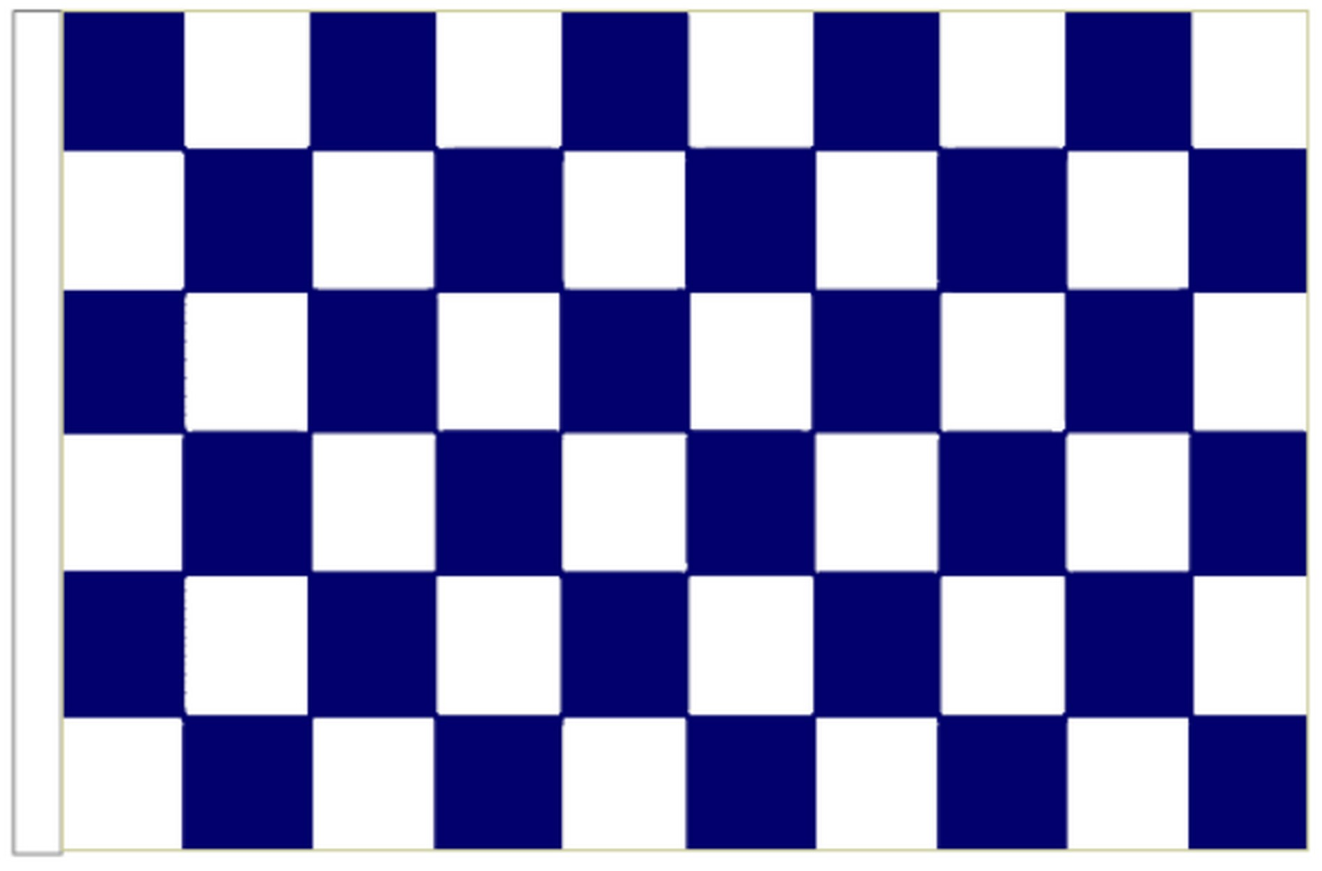 Navy Blue /& White Check Flag suitable for Boats 45cm x 30cm