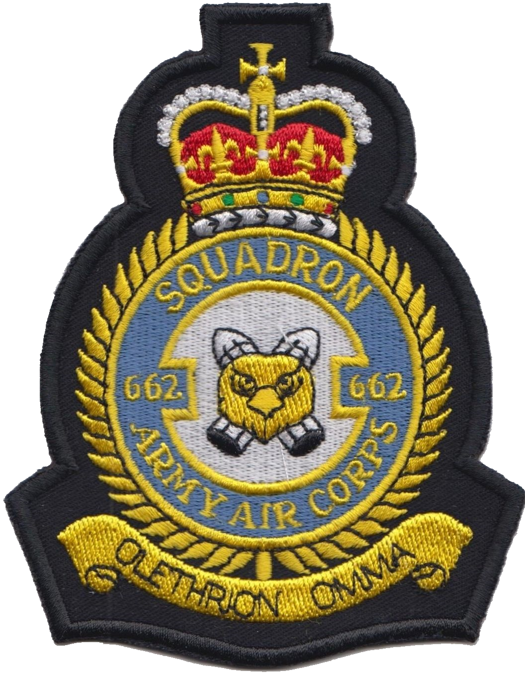 662 Squadron British Army Air Corps AAC Crest MOD Embroidered Patch