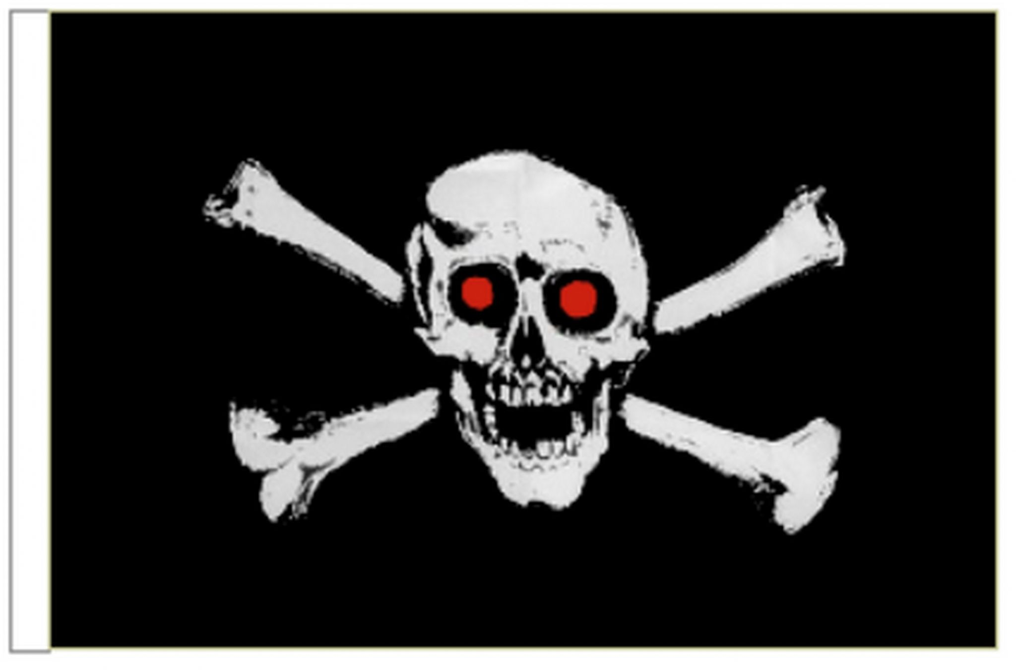 Pirate Bandana Sleeved Flag suitable for Boats 45cm x 30cm