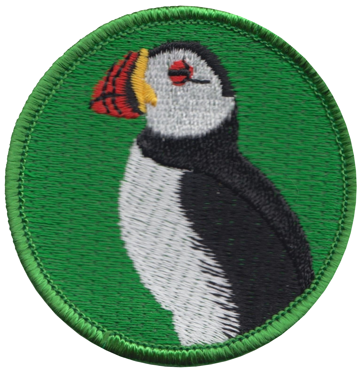 A084 Puffin Bird Embroidered Patch