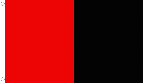 Red and Black Half and Half Vertical 5 x3 150cm x 90cm Flag