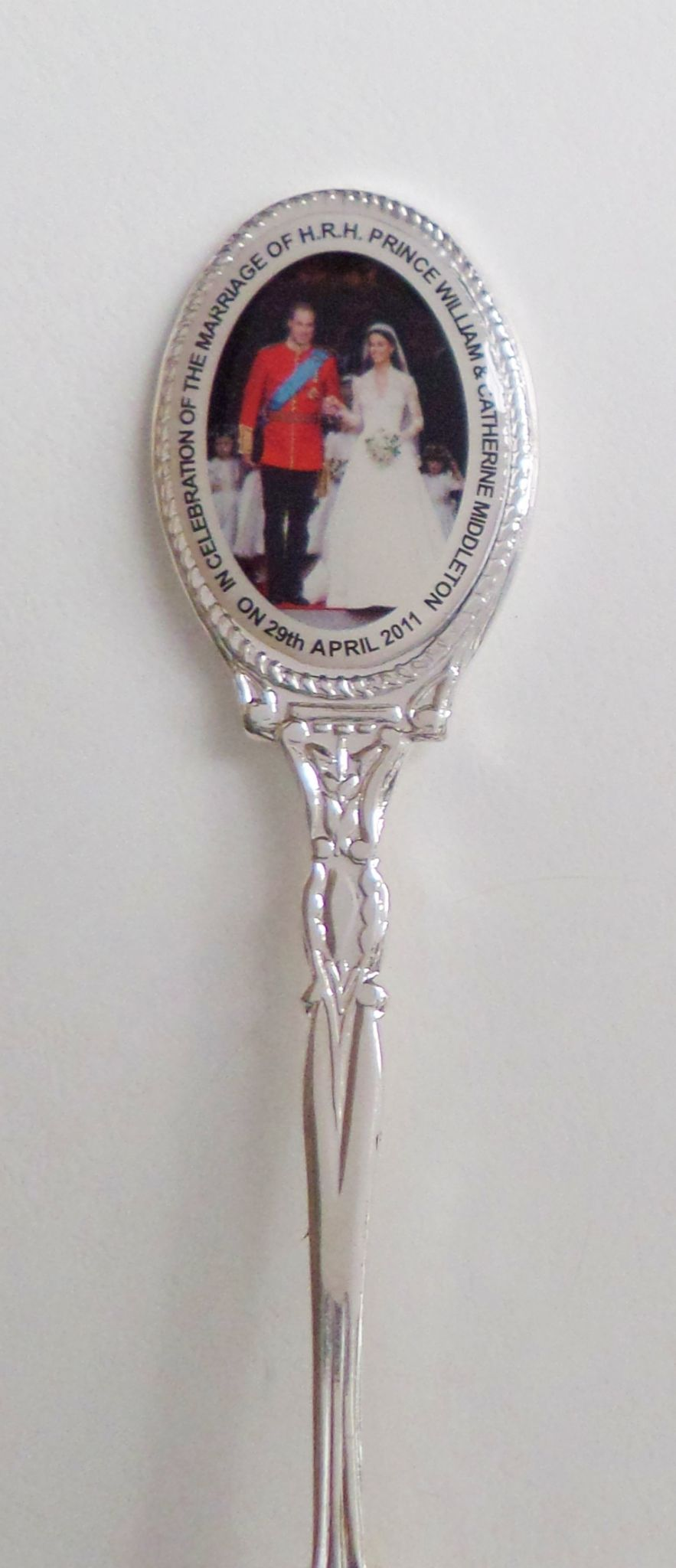 Royal Wedding William /& Kate 2010 Photo Silver-Plated Collector/'s Spoon