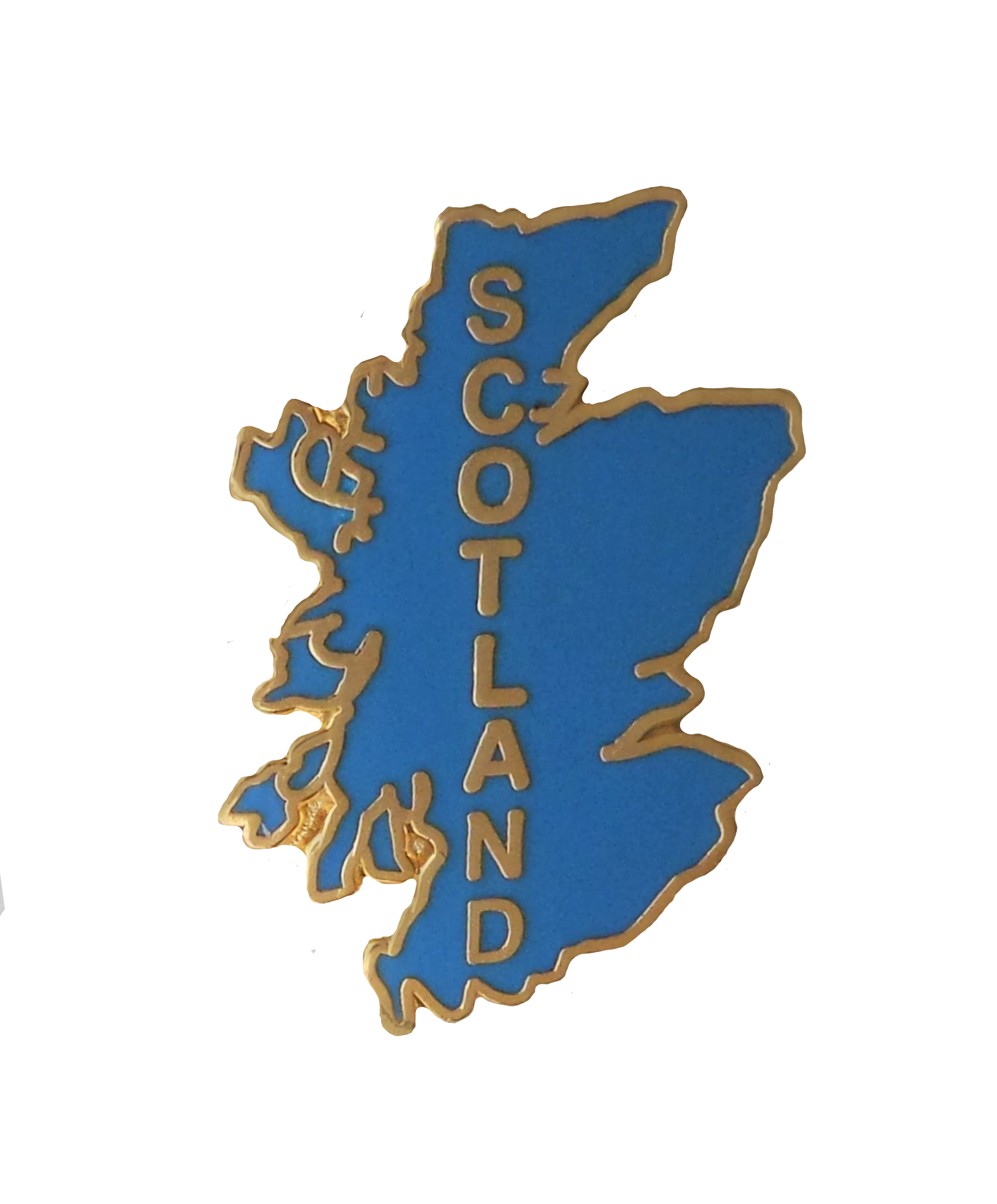 T1109 Scotland Blue Map Cut-Out Pin Badge