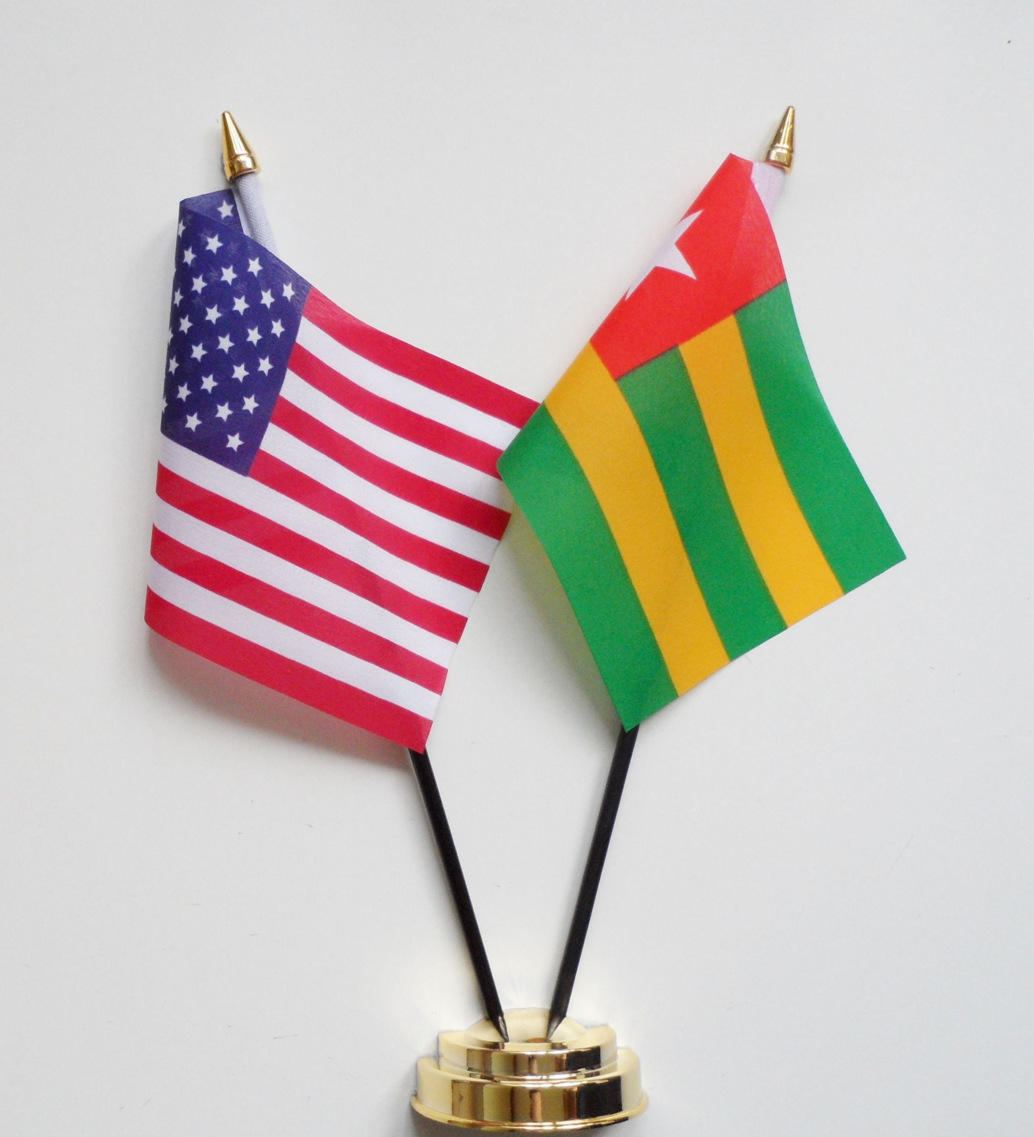 United States of America & Togo Friendship Table Flag