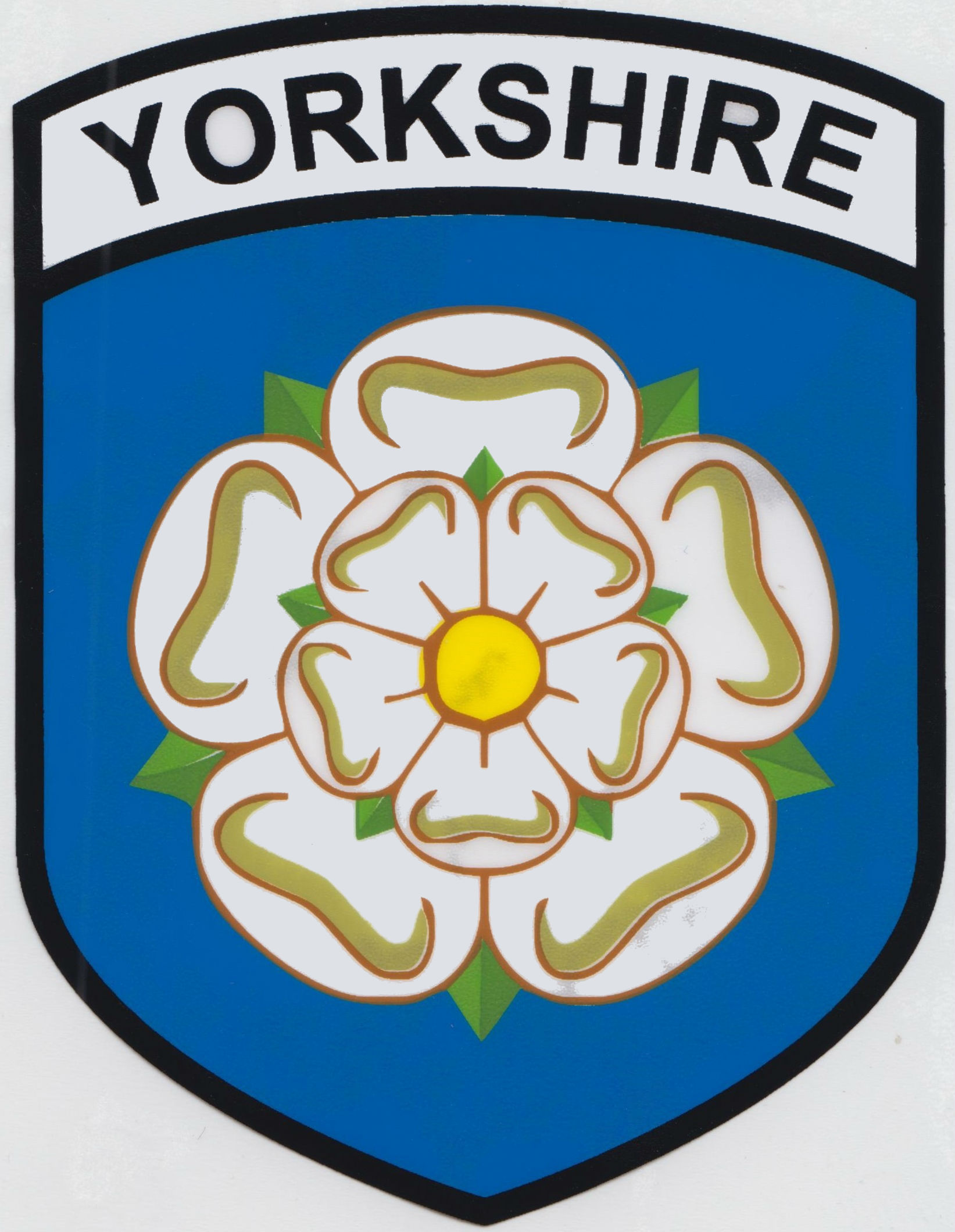 Vinyl Sticker Wall Yorkshire Rose County Flag Car Sticker Shield Self Cling